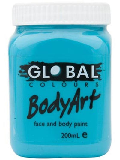 Body Art 200ml Jar - TURQUOISE-Make-up - Global Body Art-Jokers Costume Hire and Sales Mega Store