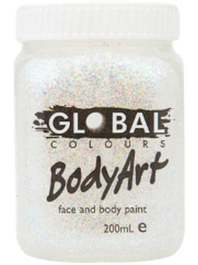 Body Art 200ml Jar - ULTRA GLITTER-Make-up - Global Body Art-Jokers Costume Hire and Sales Mega Store