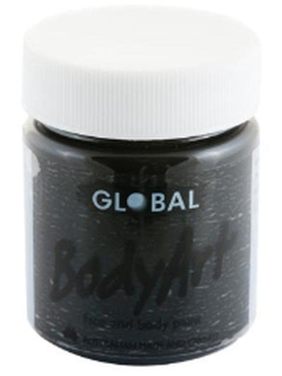 Body Art 45ml Jar - BLACK-Make-up - Global Body Art-Jokers Costume Hire and Sales Mega Store