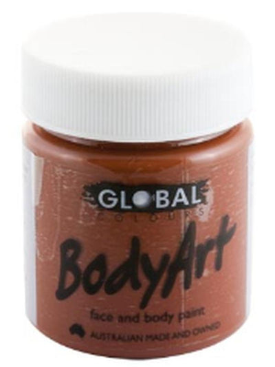 Body Art 45ml Jar - BROWN-Make-up - Global Body Art-Jokers Costume Hire and Sales Mega Store