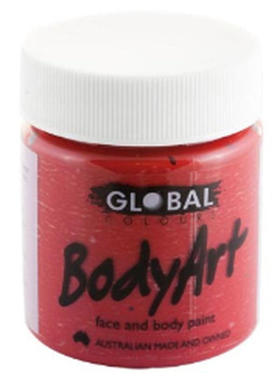 Body Art 45ml Jar - DEEP RED-Make-up - Global Body Art-Jokers Costume Hire and Sales Mega Store