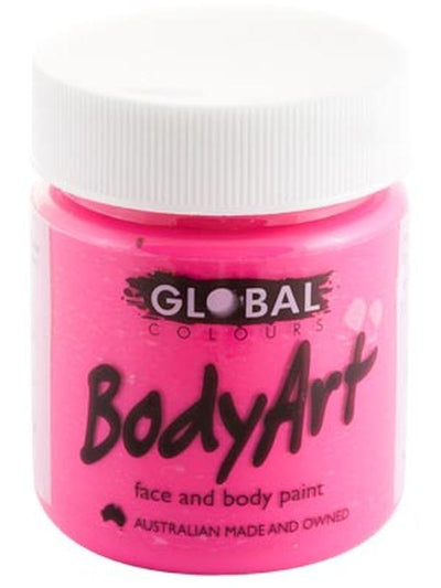 Body Art 45ml Jar - FLUORO PINK-Make-up - Global Body Art-Jokers Costume Hire and Sales Mega Store