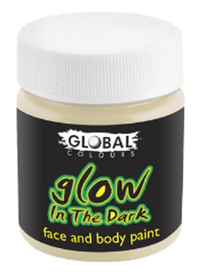 Body Art 45ml Jar - GLOW IN THE DARK-Halloween Makeup & Special FX-Jokers Costume Hire and Sales Mega Store