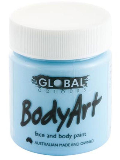Body Art 45ml Jar - LIGHT BLUE-Make-up - Global Body Art-Jokers Costume Hire and Sales Mega Store