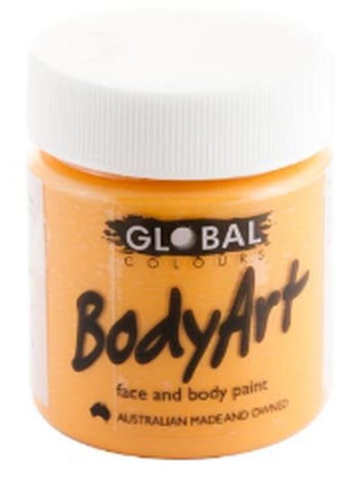 Body Art 45ml Jar - ORANGE-Make-up - Global Body Art-Jokers Costume Hire and Sales Mega Store