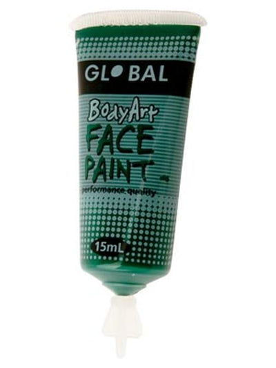 Body Art 15ml Tube - DEEP GREEN-Make-up - Global Body Art-Jokers Costume Hire and Sales Mega Store