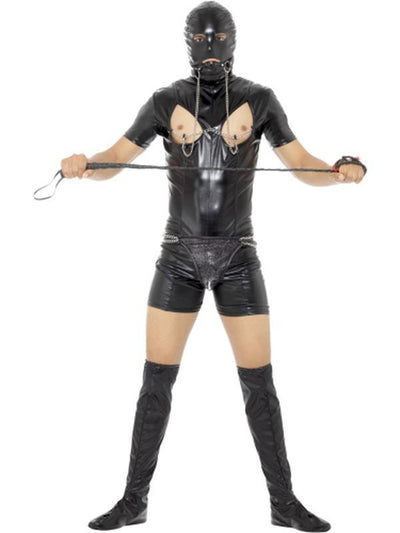 Bondage Gimp Costume with Bodysuit-Costumes - Mens-Jokers Costume Hire and Sales Mega Store