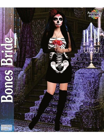 Bones Bride Costume-Costumes - Women-Jokers Costume Hire and Sales Mega Store