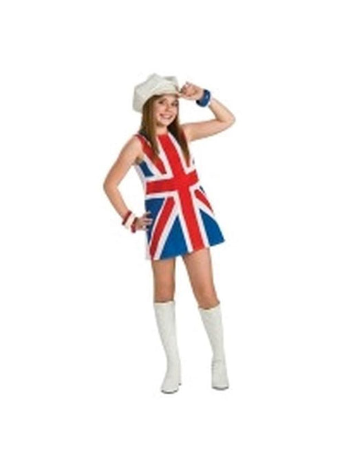 British Invasion Girls Costume - Size L-Costumes - Girls-Jokers Costume Hire and Sales Mega Store