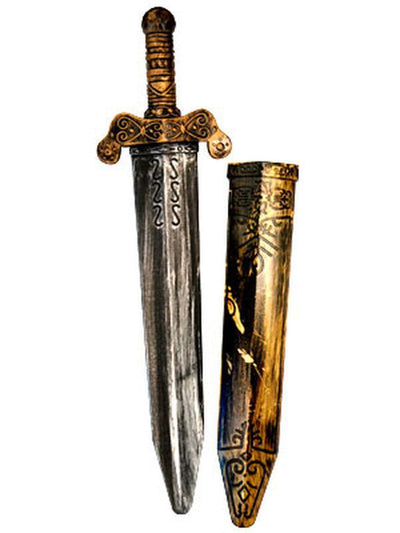 Bronzed Roman Sword w/Scabbard-Weapons-Jokers Costume Hire and Sales Mega Store