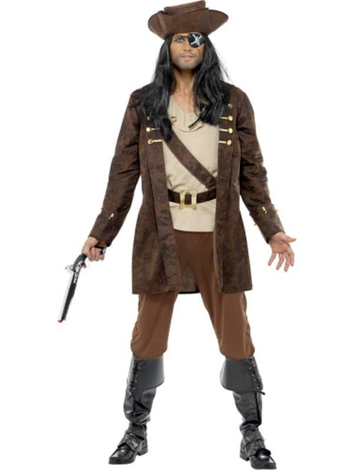 Buccaneer Costume-Costumes - Mens-Jokers Costume Hire and Sales Mega Store