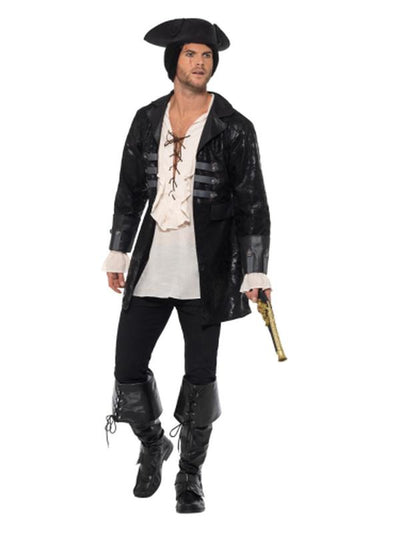 Buccaneer Pirate Jacket-Costumes - Mens-Jokers Costume Hire and Sales Mega Store