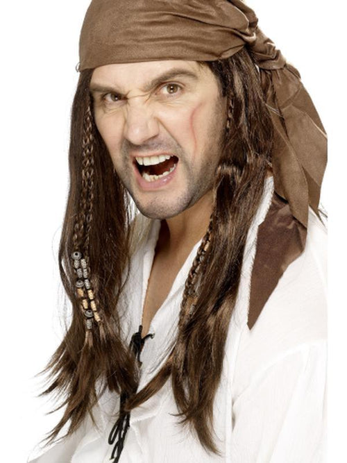 Buccaneer Pirate Wig-Wigs-Jokers Costume Hire and Sales Mega Store