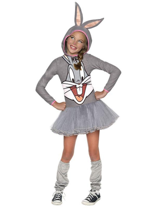 Bugs Bunny Girls Hooded Costume - Size M-Costumes - Girls-Jokers Costume Hire and Sales Mega Store