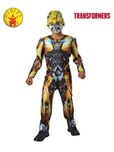 BUMBLEBEE DELUXE COSTUME - SIZE 6-8-Costumes - Boys-Jokers Costume Hire and Sales Mega Store