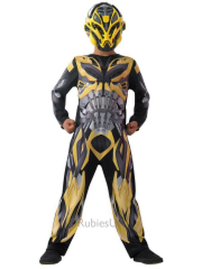 Bumblebee Transformer 4 Costume Child - Size S-Costumes - Boys-Jokers Costume Hire and Sales Mega Store