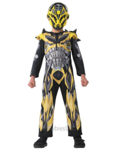 Bumblebee Transformers 4 Deluxe Costume - Size L-Costumes - Boys-Jokers Costume Hire and Sales Mega Store