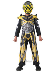 Bumblebee Transformers 4 Deluxe Costume - Size S-Costumes - Boys-Jokers Costume Hire and Sales Mega Store