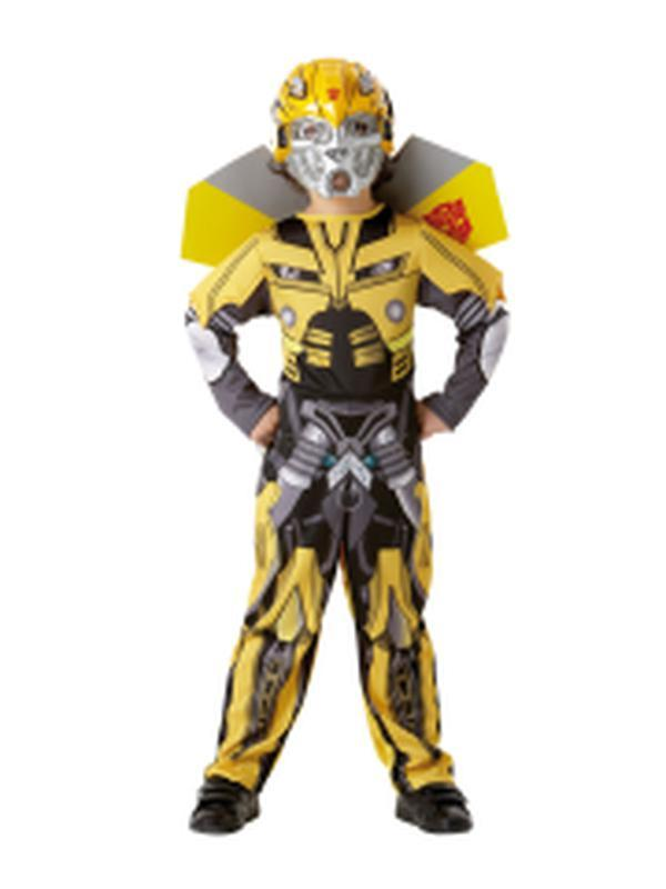 Bumblebee Transformers Costume Child - Size S-Costumes - Boys-Jokers Costume Hire and Sales Mega Store