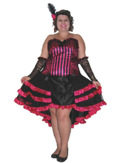 Burlesque Saloon Girl - Plus - XL-Costumes - Women-Jokers Costume Hire and Sales Mega Store