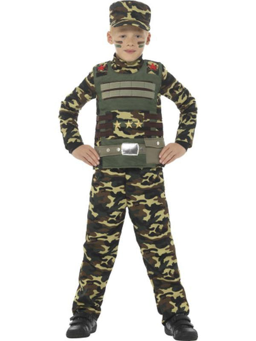 Camouflage Military Boy Costume-Costumes - Boys-Jokers Costume Hire and Sales Mega Store