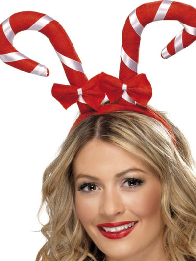 Candy Cane Headband-Hats and Headwear-Jokers Costume Hire and Sales Mega Store