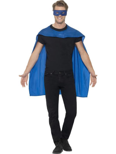 Cape - Blue with Eyemask-Costume Accessories-Jokers Costume Hire and Sales Mega Store