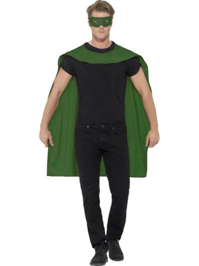 Cape - Green with Eyemask-Costume Accessories-Jokers Costume Hire and Sales Mega Store