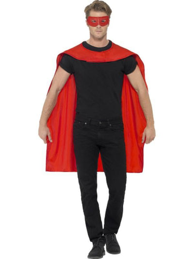 Cape - Red with Eyemask-Costume Accessories-Jokers Costume Hire and Sales Mega Store
