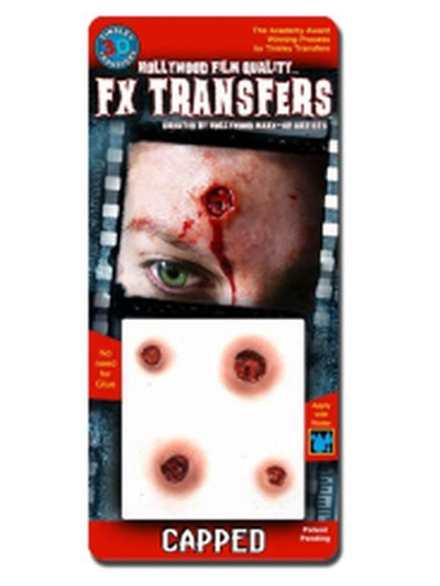 Capped - 3D FX Transfer - Small-Halloween Makeup & Special FX-Jokers Costume Hire and Sales Mega Store