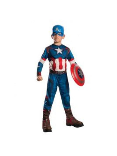 Captain America Child Costume - Size M-Costumes - Boys-Jokers Costume Hire and Sales Mega Store