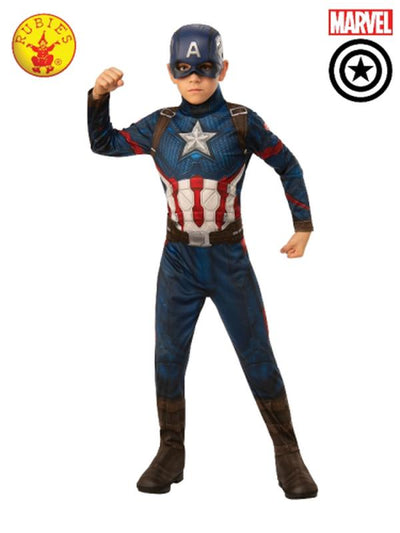 CAPTAIN AMERICA CLASSIC COSTUME, CHILD-Costumes - Boys-Jokers Costume Hire and Sales Mega Store