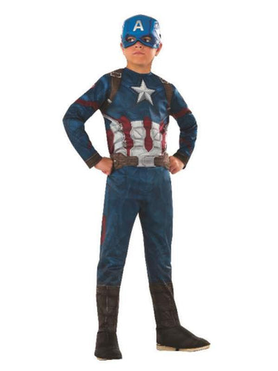 Captain America Classic Costume - Size 3-5-Costumes - Boys-Jokers Costume Hire and Sales Mega Store