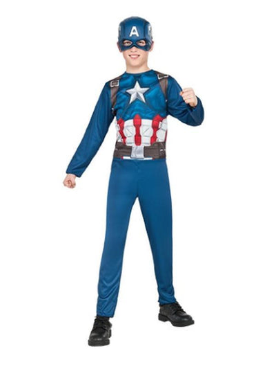 Captain America Costume - Size M (5-6)-Costumes - Boys-Jokers Costume Hire and Sales Mega Store