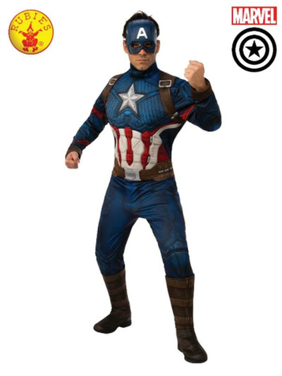 CAPTAIN AMERICA DELUXE COSTUME, ADULT-Costumes - Mens-Jokers Costume Hire and Sales Mega Store