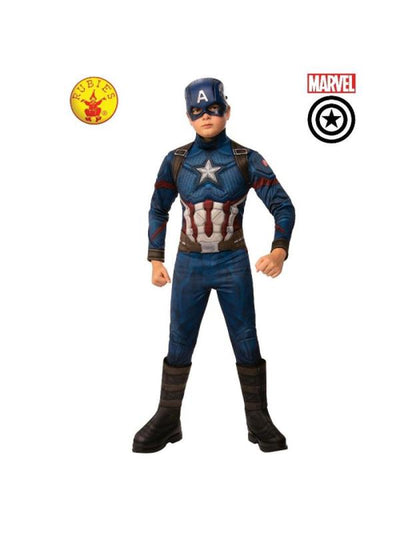 CAPTAIN AMERICA DELUXE COSTUME, CHILD-Costumes - Boys-Jokers Costume Hire and Sales Mega Store