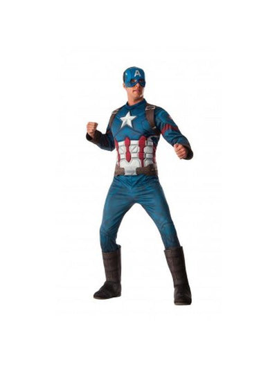 Captain America Deluxe Muscle Chest - Size Std-Costumes - Mens-Jokers Costume Hire and Sales Mega Store