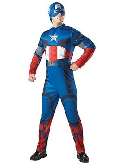 Captain America Eva Muscle Chest With Hood - Size Xl-Jokers Costume Mega Store