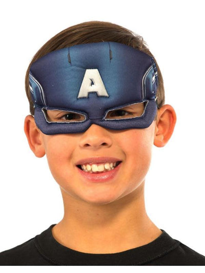 Captain America Plush Eyemask.-Masks - Basic-Jokers Costume Hire and Sales Mega Store