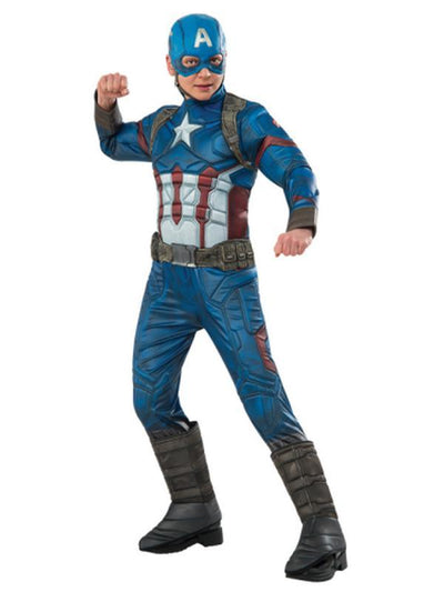 Captain America Premium Costume - Size 6-8-Costumes - Boys-Jokers Costume Hire and Sales Mega Store