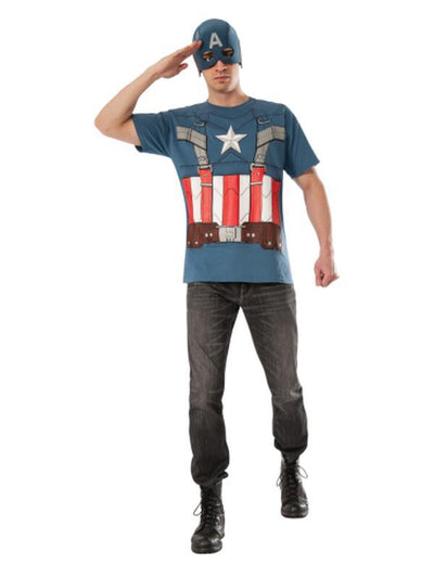 Captain America Retro Shirt -Size Xl-Jokers Costume Mega Store