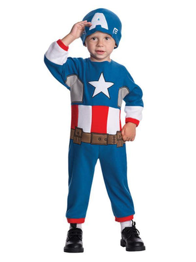 Captain America - Size Toddler-Costumes - Boys-Jokers Costume Hire and Sales Mega Store