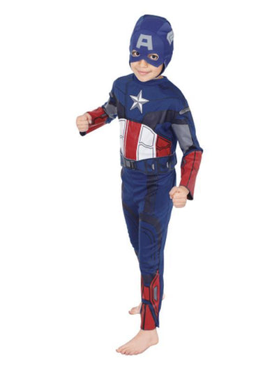 Captain America Std - Size 3-5-Costumes - Boys-Jokers Costume Hire and Sales Mega Store