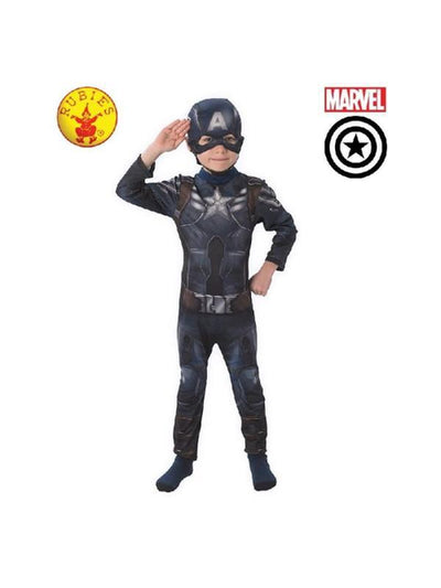 Captain America Winter Soldier - Size 3-5-Costumes - Boys-Jokers Costume Hire and Sales Mega Store