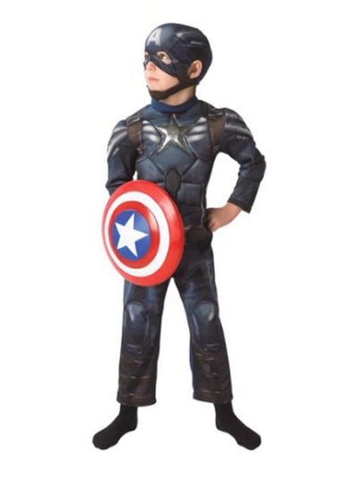 Captain America Ws Deluxe Costume - Size L-Costumes - Boys-Jokers Costume Hire and Sales Mega Store