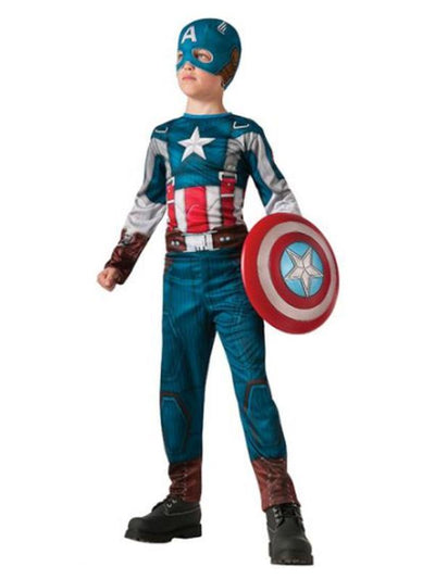 Captain America Ws Retro Classic Costume - Size M-Costumes - Boys-Jokers Costume Hire and Sales Mega Store