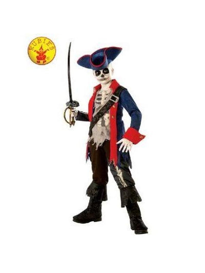 CAPTAIN BONES PIRATE COSTUME - SIZE M-Costumes - Boys-Jokers Costume Hire and Sales Mega Store