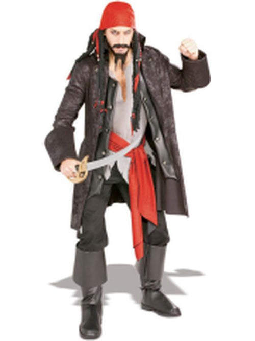 Captain Cutthroat Costume - Size Std-Costumes - Mens-Jokers Costume Hire and Sales Mega Store