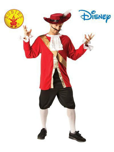 CAPTAIN HOOK DELUXE COSTUME - SIZE STD-Costumes - Mens-Jokers Costume Hire and Sales Mega Store