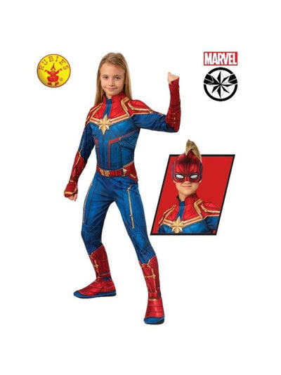 CAPTAIN MARVEL CLASSIC HERO SUIT, CHILD-Costumes - Girls-Jokers Costume Mega Store